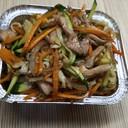 Spaghetti di Soia con Pollo e Verdure
