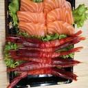 Sashimi con Salmone e Amaebi